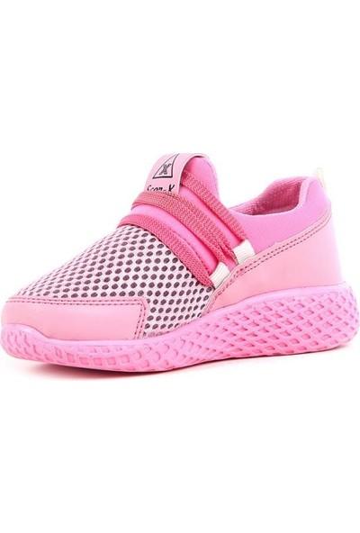 Scor-X Bağcıksız Kız Çocuk Pembe Spor Ayakkabı