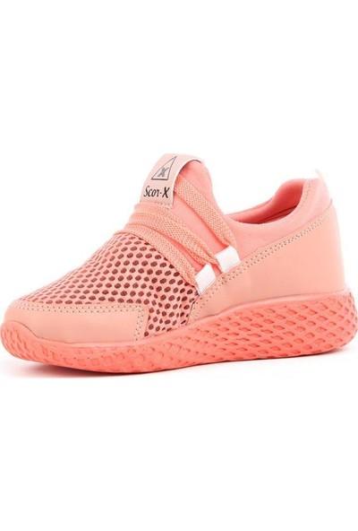 Scor-X Bağcıksız Kız Çocuk Pudra Spor Ayakkabı
