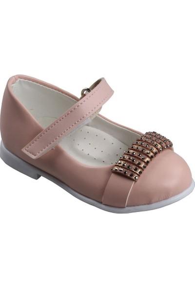 Sema Pudra Kız Çocuk Bebe Babet Ayakkabı