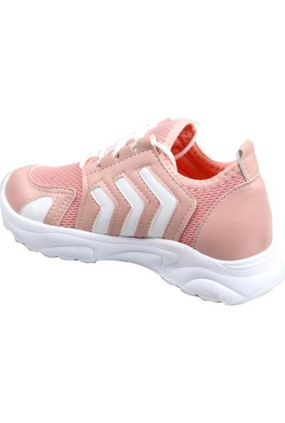 Sema Yüksek Taban Pudra Kız Çocuk Günlük Spor Ayakkabı