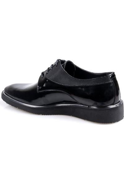 Talo Erkek Deri Siyah Rugan Günlük Eva Taban Ayakkabı