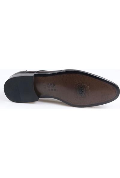 Talo Erkek Deri Siyah Rugan Klasik Jurdan Ayakkabı