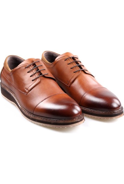 James & Franco 2605 Taba Günlük Erkek Deri Oxford Ayakkabı