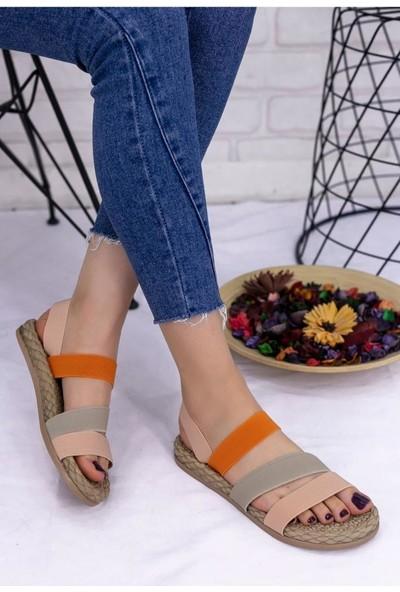 Papuçcity Çok Renkli Kadın Günlük Sandalet