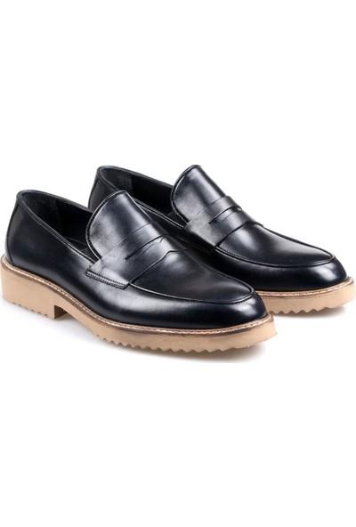Talo Erkek Deri Siyah Günlük Eva Taban Ayakkabı