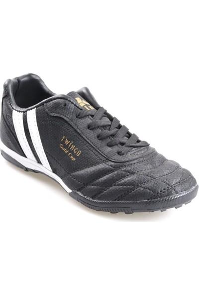 Twingo 134 Erkek Siyah Halı Saha Futbol Ayakkabı