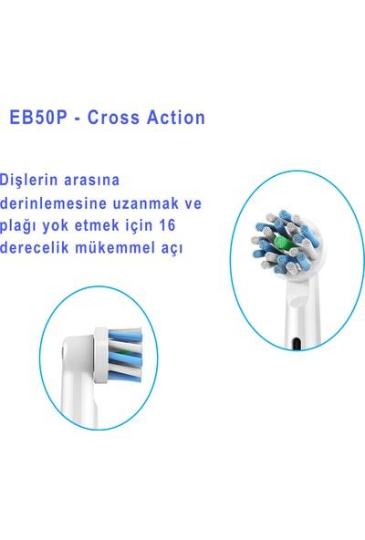 Kyver Cross Action 4'lü Oral-B Uyumlu Dış Fırçası Yedek Başlığı