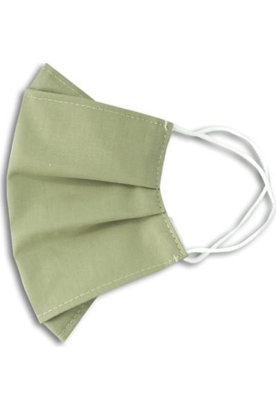 Heybez Yaprak Yeşili Bez Maske