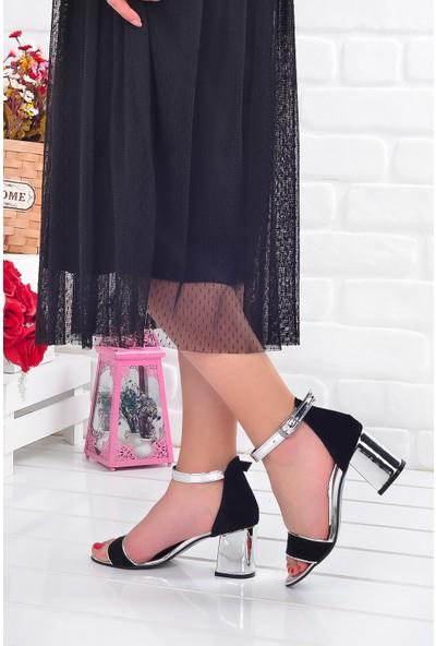 Ayakland 2013-05 Ayna 7 cm Topuk Kadın Sandalet