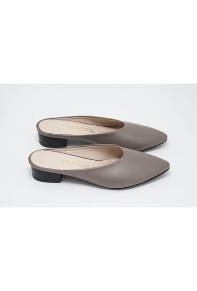 Marci Shoes Amelıa Vizon Kadın Topuklu Terlik