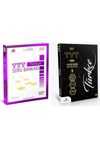 Üç Dört Beş Yayıncılık TYT Türkçe Soru Bankası+Sistemplus Türkçe TYT Soru Bankası 2'li Set
