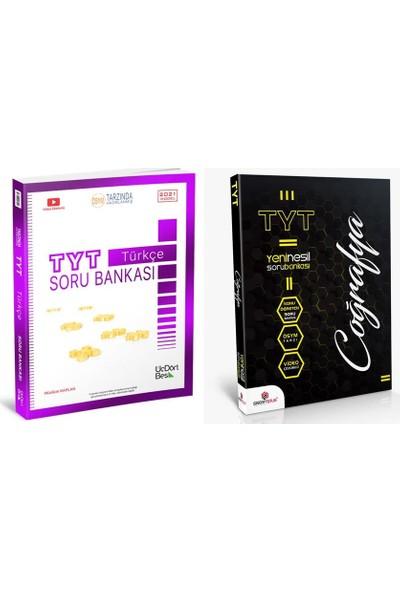 Üç Dört Beş Yayıncılık TYT Türkçe Soru Bankası +Sistemplus Coğrafya TYT Soru Bankası 2'li Set