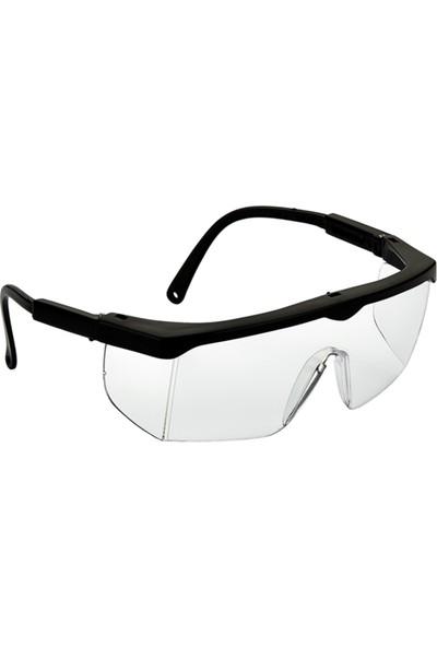 Viola Valente Koruyucu Iş Gözlüğü Şeffaf Cam Siyah Çerçeve VV400