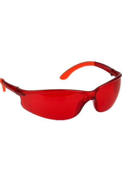 Roney Koruyucu Iş Gözlüğü Kırmızı 986026