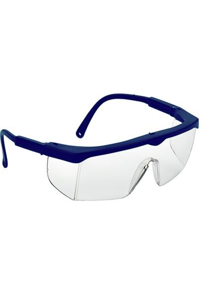 Viola Valente Koruyucu Iş Gözlüğü Şeffaf Cam Mavi Çerçeve VV401