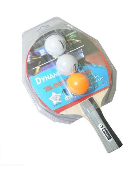 Dynamic 8100D 1 Raket 3 Top Set / Pinpon Seti