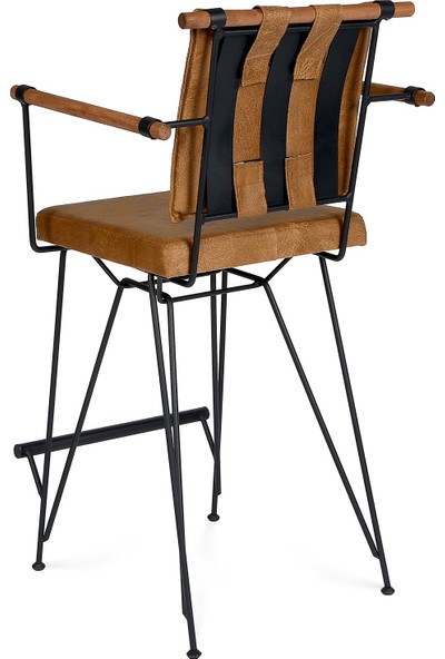 Indirimse Home 2 Adet Penyez Bristo Bar Tipi Metal Tel Sandalye