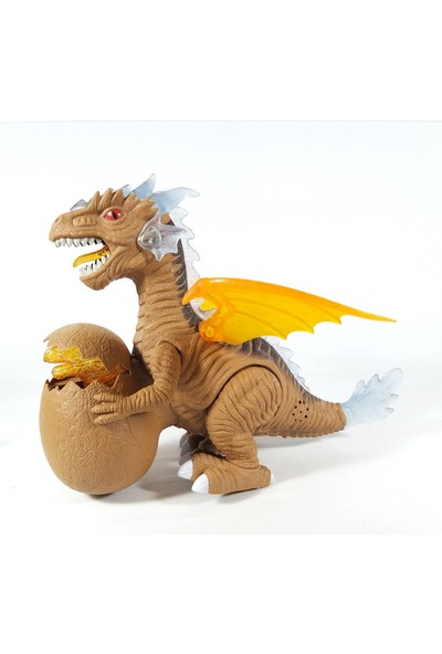 Ethem Sesli ve Işıklı Yumurtalı Kanatlı Dragon Yürüyen Oyuncak Dinozor