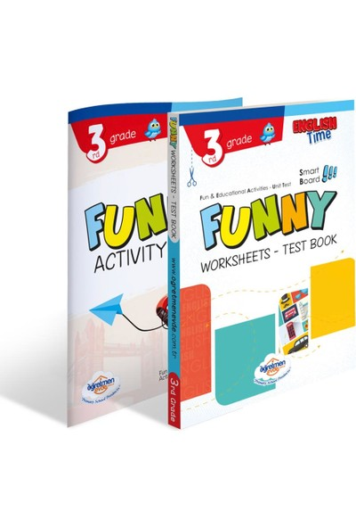 Öğretmen Evde Yayınları 3. Sınıf Funny Worksheets & Test / Activity Book