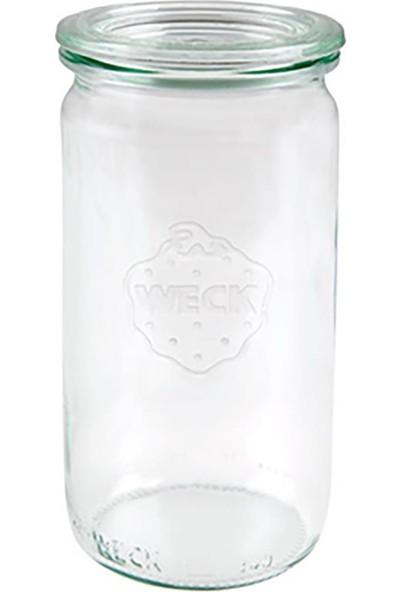 Weck 340 ml Cam Silindir Saklama Kavanozu