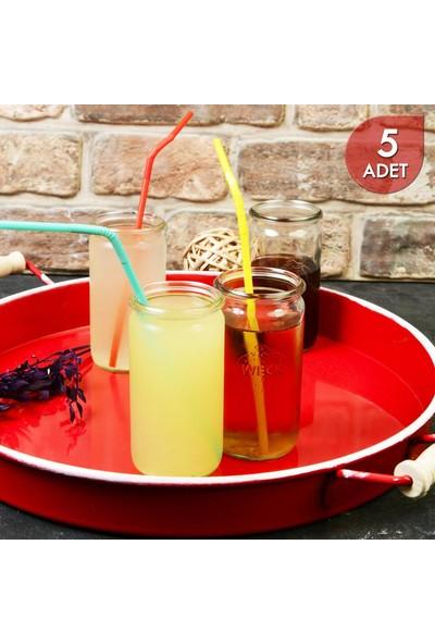 Weck 340 ml Cam Silindir Saklama Kavanozu (Aksesuarsız) - 5 Adet