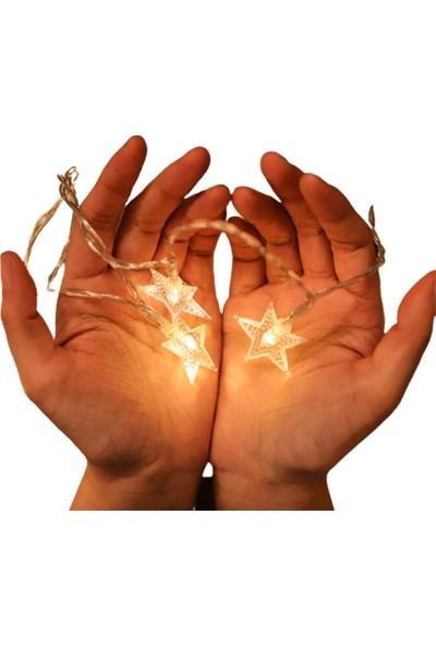 Patladı Gitti LED Işıklı Yıldız Dizeleri 20'li 3 Metre Pilli Günışığı