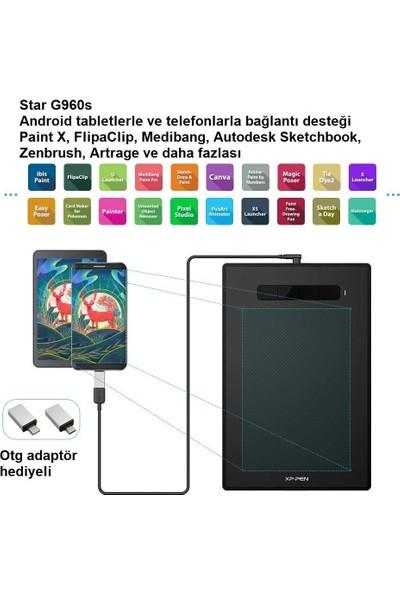 "XP-Pen Star G960S 12.5x8.25"" Grafik Tablet 8192 Basınç 4 Tuşlu"