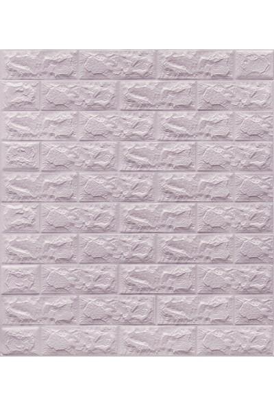 NW04 Lila Tuğla Kendinden Yapışkanlı Silinebilir Esnek Duvar Paneli