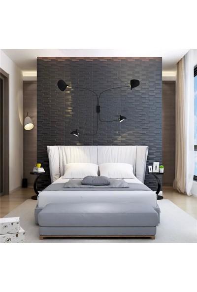NW66 Siyah Opak Model Taş Desen Kendinden Yapışkanlı Sünger Temizlenebilir Esnek Duvar Paneli