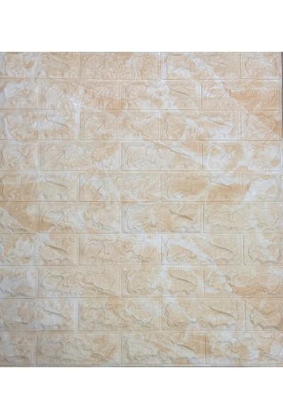 NW11 Sarı Mermer Tuğla Desen Kendinden Yapışkanlı Silinebilir Esnek Duvar Paneli