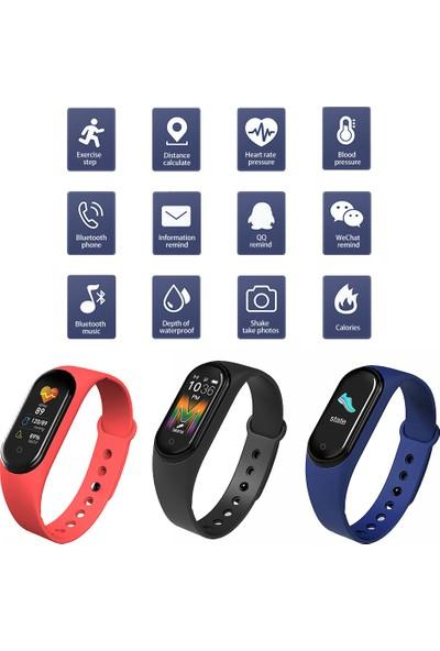 M5 Akıllı Bileklik -spor-monitorü- Adımsayar - Uyku Takip - Kalp Ritim Ölçer - Renkli Ekran-Konuşma Özelliği