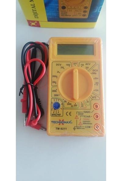 Technomax Ölçü Aleti Multimetre Ampermetre Test Cihazı TM-9211