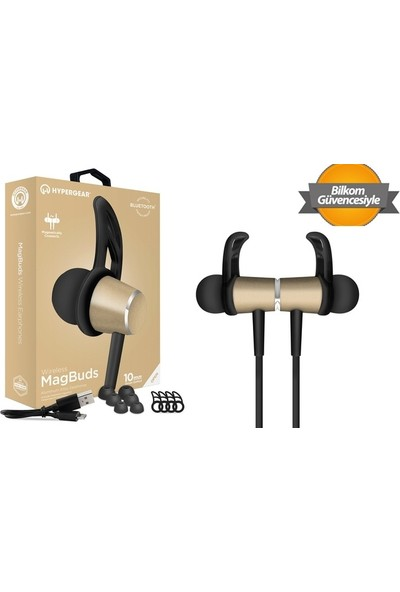 Hypergear Magbuds Kulak İçi Sporcu Bluetooth Kulaklık Siyah - Altın