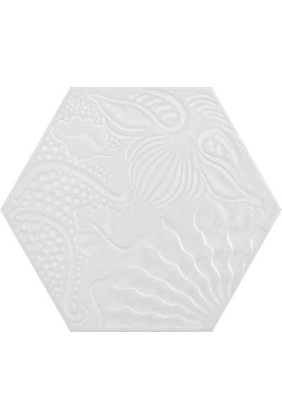Codicer Gaudi White Hex 22 x 25 Altıgen Seramik