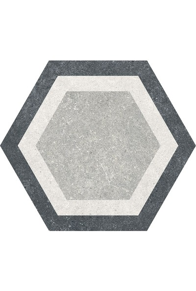 Codicer Traffic Combi Grey Hex 22 x 25 cm Mix Altıgen Seramik
