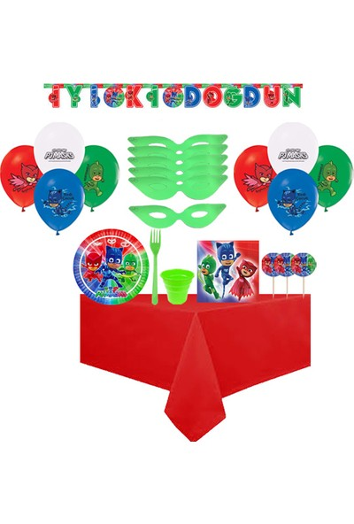 Partylandtr Pijamaskeliler 24 Kişilik Doğum Günü Parti Seti