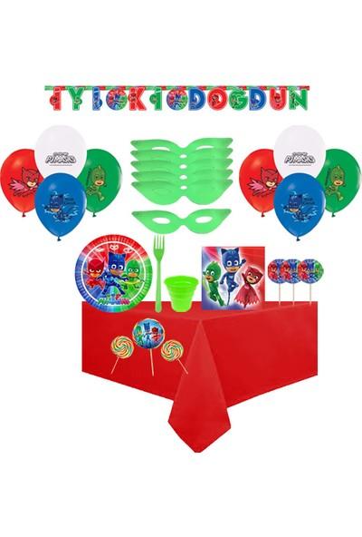 Partylandtr Pijamaskeliler 8 Kişilik Sosyete Şekerli Doğum Günü Parti Seti