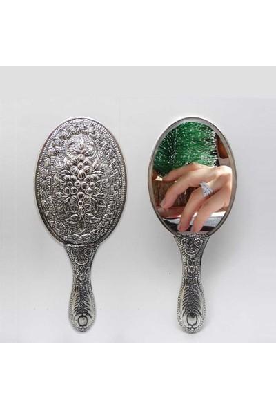 Cng Papatya Desenli Gümüş El Aynası No 1