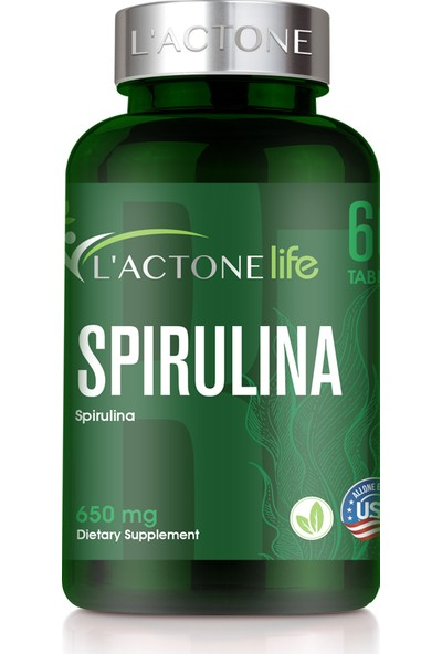 L'actone Spirulina 650 mg / 60 Tablet
