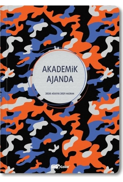 Le Color Akademik Ajanda 2021 Stickerli 80 gr 17 x 24 cm