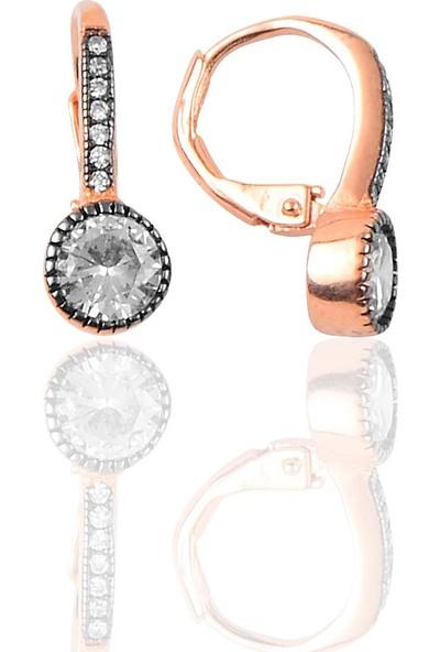 Söğütlü Si̇lver Gümüş Elmas Montürlü Küpe