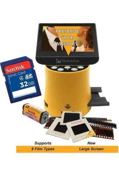 Wolverine Titan 8-In-1 20 MP Yüksek Çözünürlüklü Film - Dijital Dönüştürücü