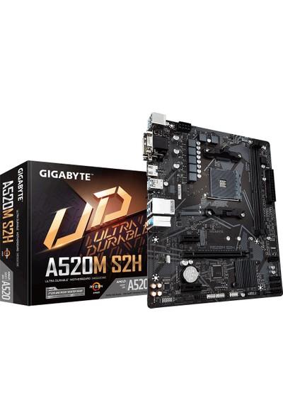 Gigabyte GA-A520M-S2H AMD A520 5100MHz (O.C.) Nvme 3.0 DDR4 Soket AM4 mATX Anakart