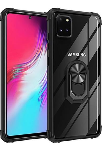 AksesuarLab Samsung Galaxy Note 10 Lite Kılıf - Manyetik Yüzüklü
