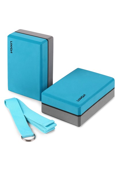 Lixada2'li Yoga Blokları ile Yoga Kayış Eva Köpük