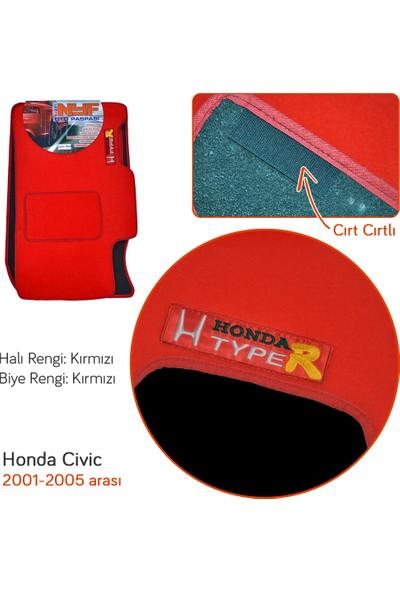 NYF Honda Civic 2001-2005 Kırmızı Halı Paspas (Biye Kırmızı)