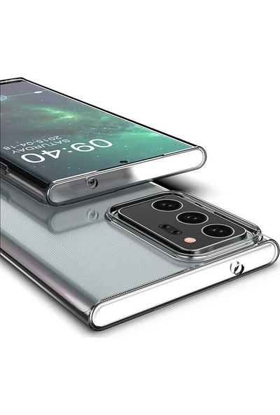 ZORE Samsung Galaxy Note 20 Ultra Kılıf Süper Silikon Şeffaf