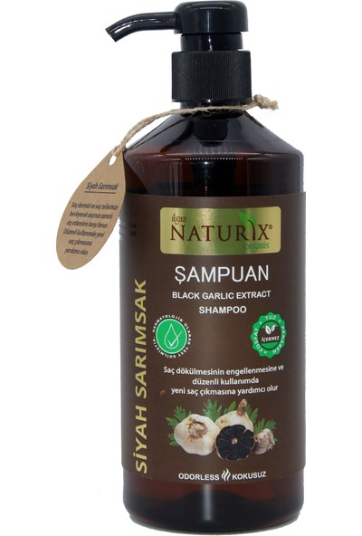 Naturix Siyah Sarımsak Saç Şampuanı - 600 ml