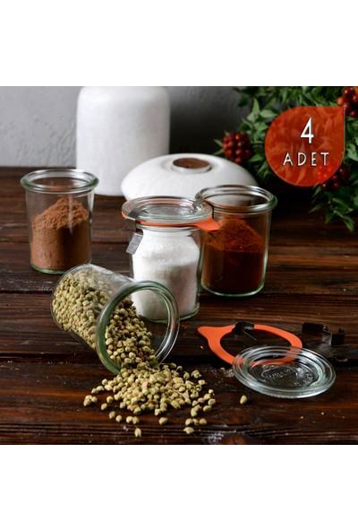 Weck 160 ml Cam Saklama Kavanoz Seti (4 Adet)