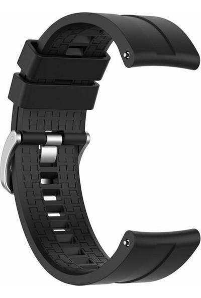 Kny Samsung Galaxy Watch 3 Bluetooth 45mm (22mm) Standart Silikon Kayış-Kordon Siyah
